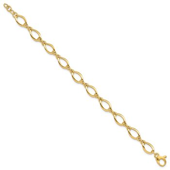 14k Fancy Link 18in Necklace