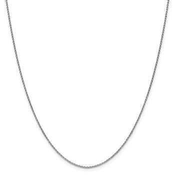 Leslie's 14K White Gold 1.5 mm D/C Rolo Chain