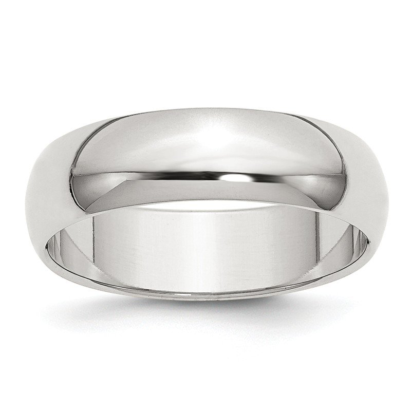 Quality Gold Sterling Silver 6mm Half-Round Band