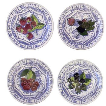 Canape Plates, Set of 4 Assorted