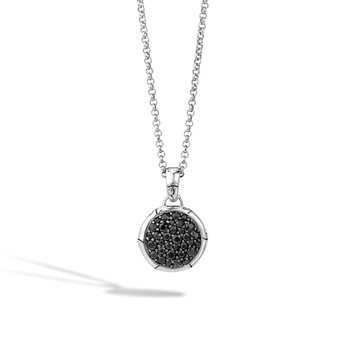 Pendant Necklace with Black Sapphire