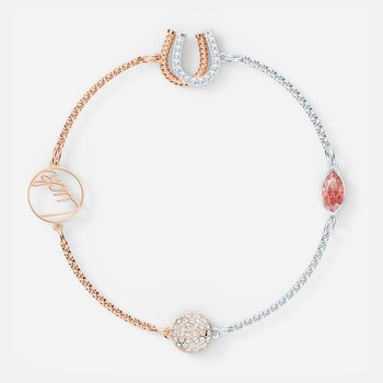 Swarovski Remix Collection Luck Strand, Red, Mixed metal finish