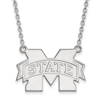 Sterling Silver Mississippi State University NCAA Necklace