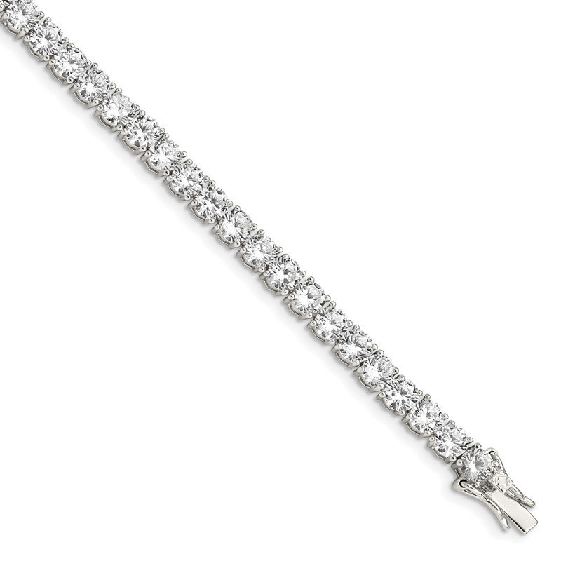 Quality Gold Sterling Silver CZ Tennis Bracelet