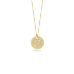 Roberto Coin Disc Pendant With Diamond Initial R