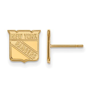 Gold-Plated Sterling Silver New York Rangers NHL Earrings