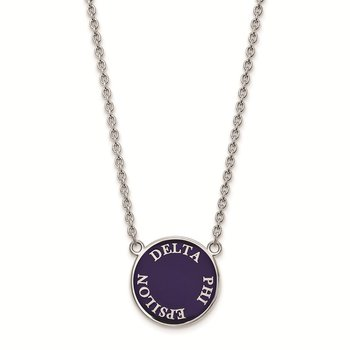 Sterling Silver Delta Phi Epsilon Greek Life Necklace