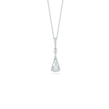 18KT GOLD MORESQUE PENDANT WITH DIAMONDS