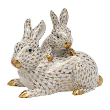 Mother & Baby Bunny - Gold