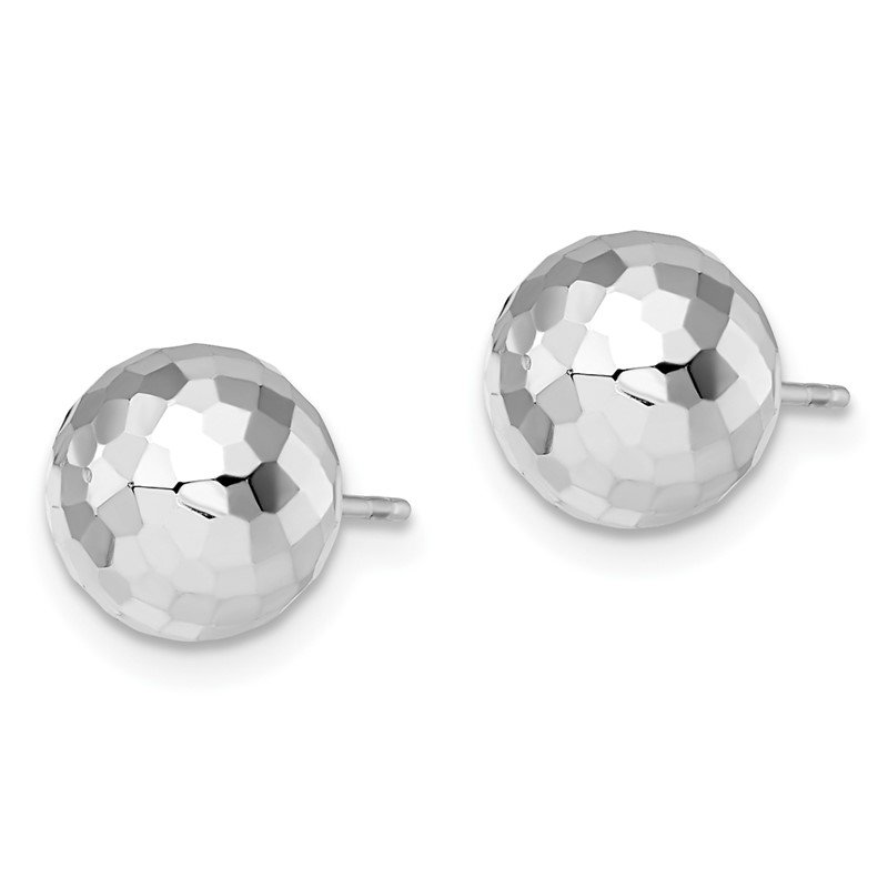 Leslie's Leslie's 14K WG 9.4MM D/C Ball Earrings