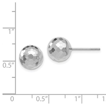 Leslie's 14K WG 9.4MM D/C Ball Earrings