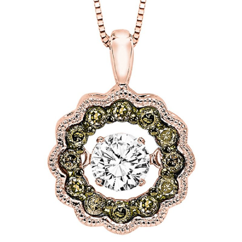 Melancon jewelers rhythm of love 14k brown white diamond rhythm rhythm of love 14k brown white diamond rhythm of love pendant 38 ctw aloadofball Images