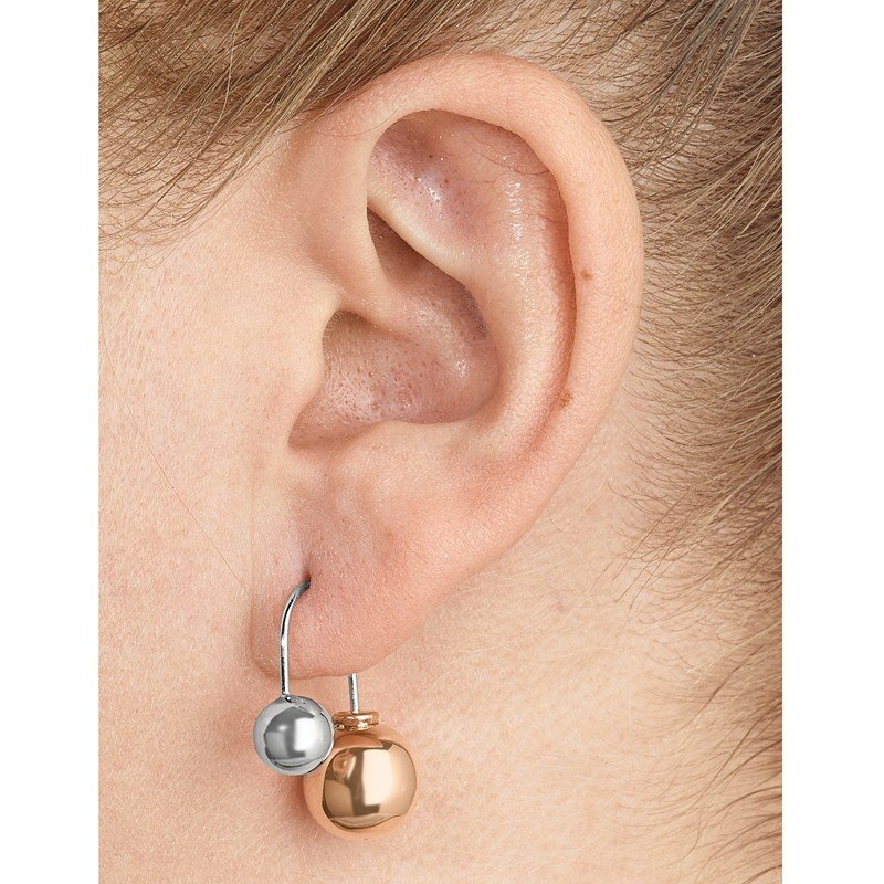 Leslie's Leslie's Sterling Silver & Rose-tone Dangle Earrings