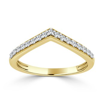 14 KT Yellow gold Matching band  (0.25 CTW)
