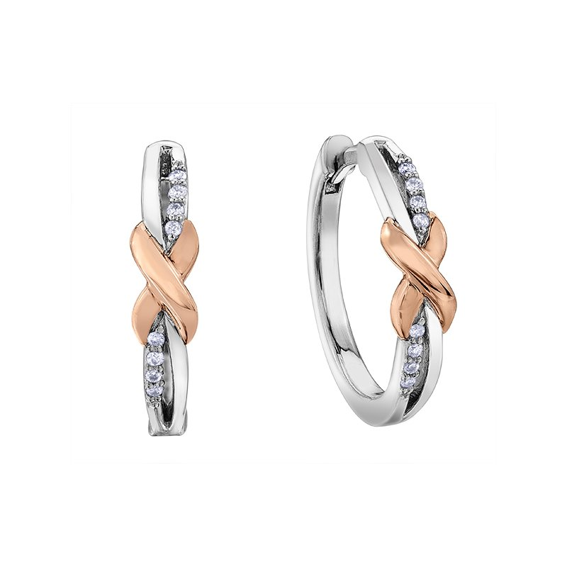 D of D Signature Diamond Hoop Earrings