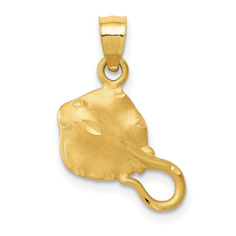 Quality Gold 14K Stingray Pendant