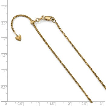 Leslie's 14K 1.3 mm D/C Wheat Chain
