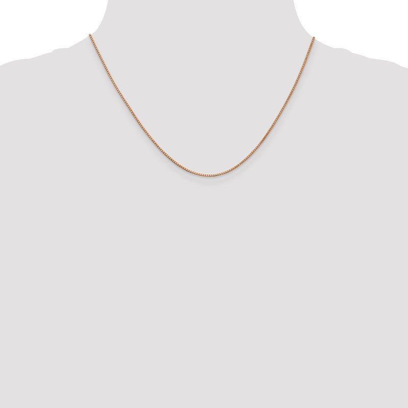 Quality Gold 14k Rose Gold 1.0mm Box Chain