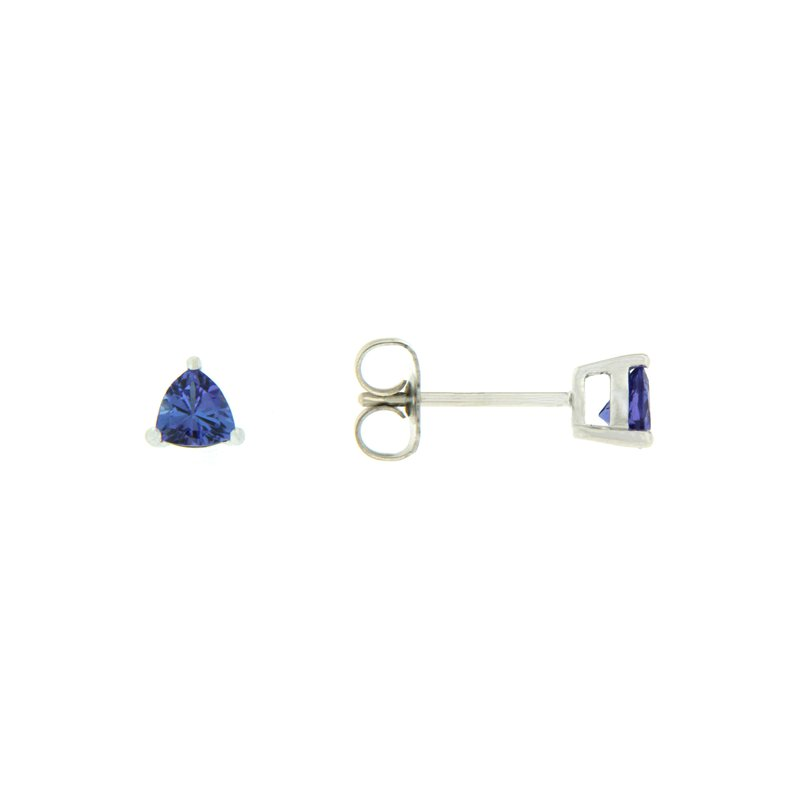 Paragon Fine Jewellery 14k White Gold Earrings with Tanzanite