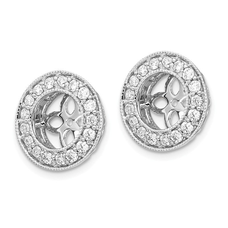 True Origin 14kw True Origin Lab Grown Diamond VS/SI, D E F, Earring Jackets