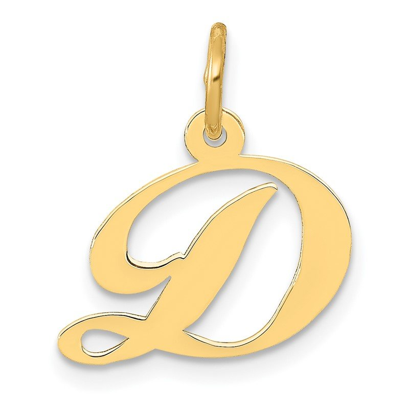 Lester Martin Online Collection 14K Small Fancy Script Letter D Initial Charm