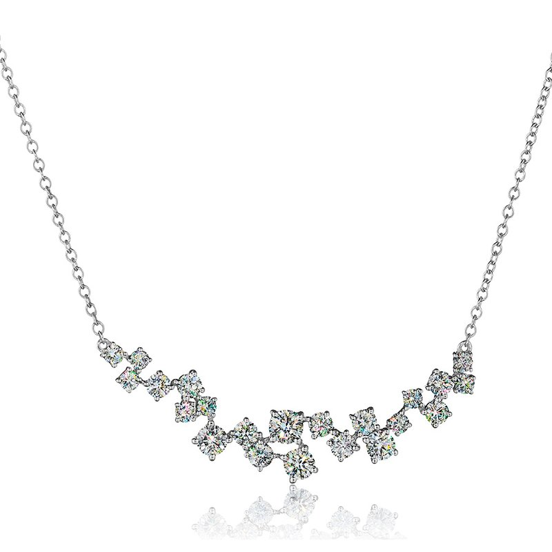 Fire Polish Diamonds Diamond Scatter Necklace 1 5/8 CTTW