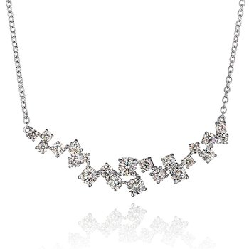 Diamond Scatter Necklace 1 5/8 CTTW