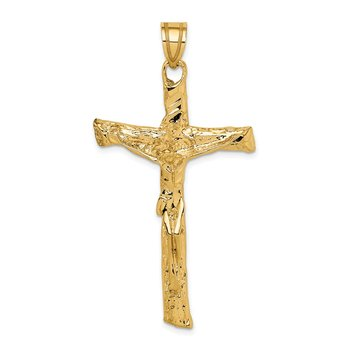 14k Satin Crucifix Pendant