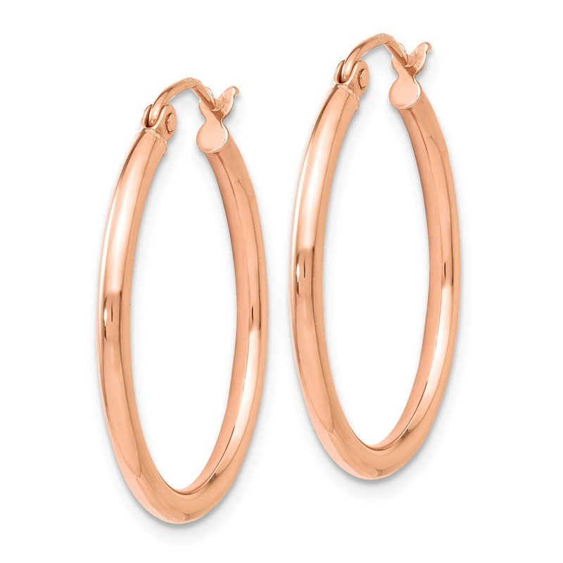 Leslie's Leslie's 14K Rose Gold 2mm Polished Hoop Earrings