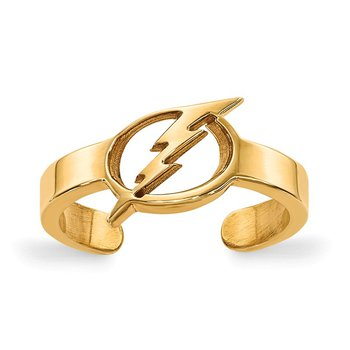 Gold-Plated Sterling Silver Tampa Bay Lightning NHL Ring