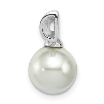 Sterling Silver FW Cultured Pearl Slide Pendant
