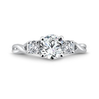 Classic Elegance Three-Stone Engagement Ring in 14K White Gold with Platinum Head (1ct. tw.)
