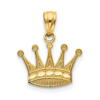 14k Crown Pendant