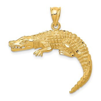 14k Alligator Pendant