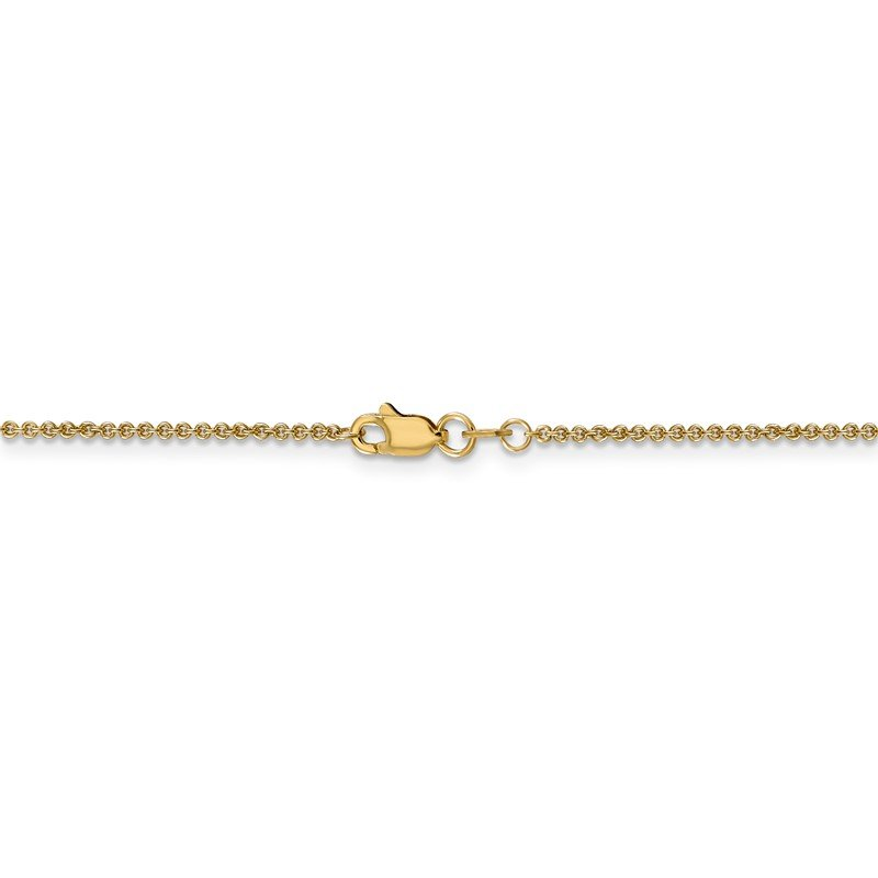 Quality Gold 14k 1.4mm Round Open Link Cable Chain Anklet