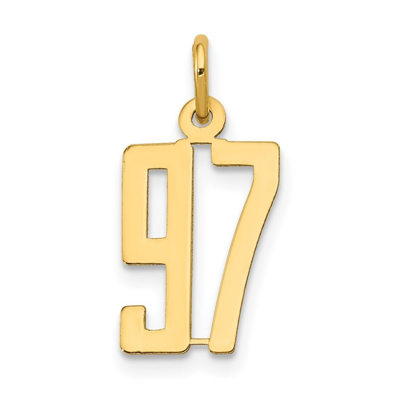Quality Gold 14k Small Polished Elongated 97 Charm