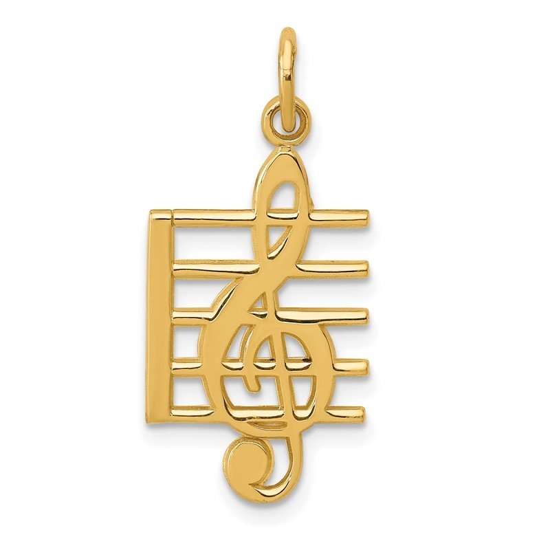Quality Gold 14k Musical Staff Charm