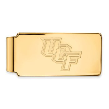 Gold-Plated Sterling Silver University of Central Florida NCAA Money Clip