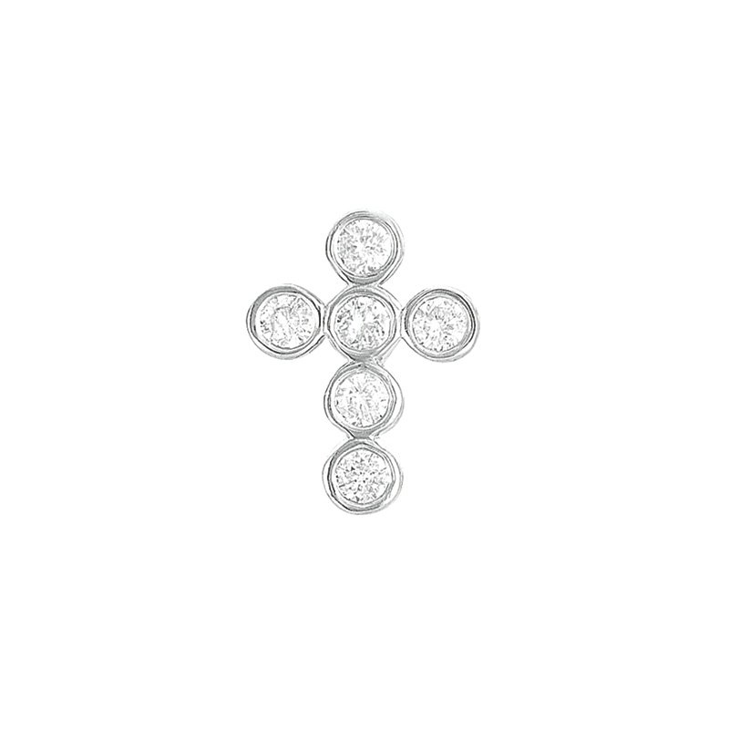 S. Kashi  & Sons Diamond Cross Pendant 15mm