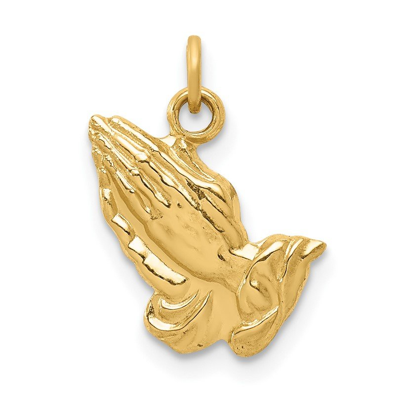 14k Praying Hands Charm