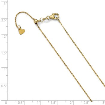 Leslie's 14K 1.1 mm D/C Adjustable Cable Chain