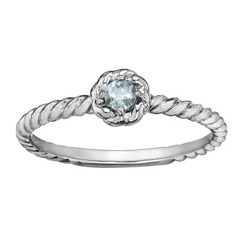 Aquamarine Ladies Solitaire