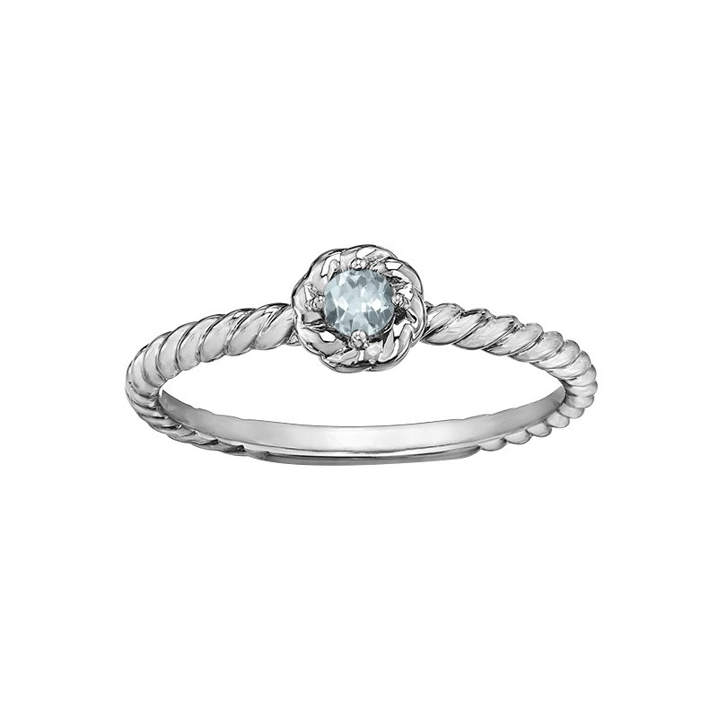 Lasting Treasures™ Aquamarine Ladies Solitaire