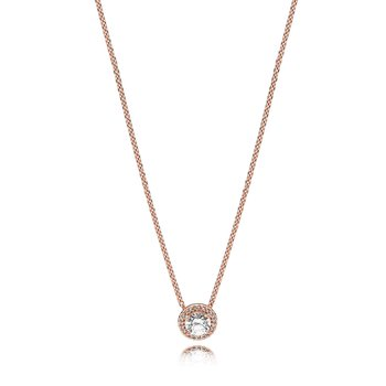 Classic Elegance Necklace, Pandora Rose™ Clear Cz