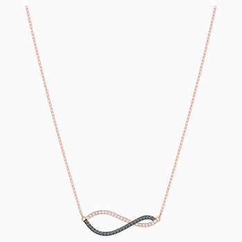 Lemon Necklace, Multi-colored, Rose-gold tone plated
