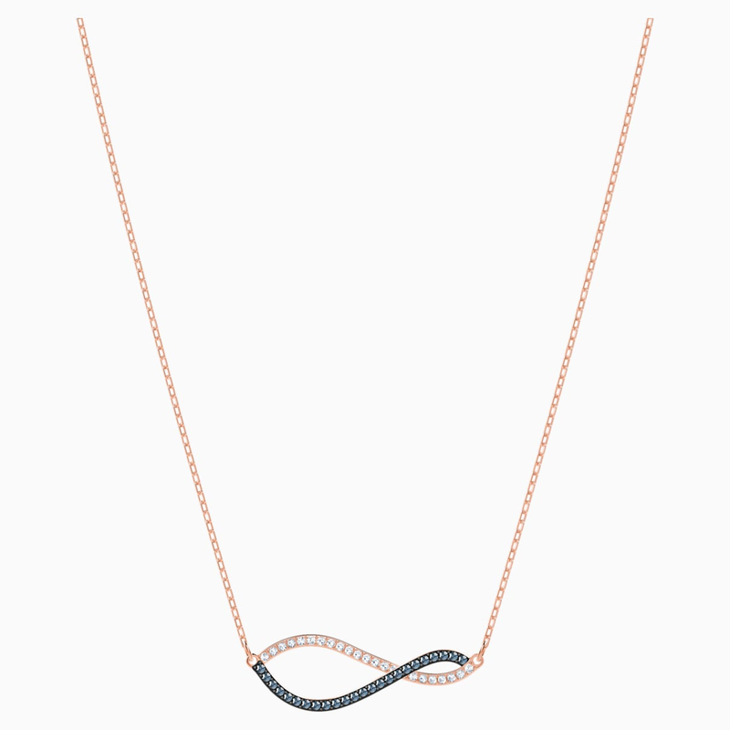 Swarovski Lemon Necklace, Multi-colored, Rose-gold tone plated