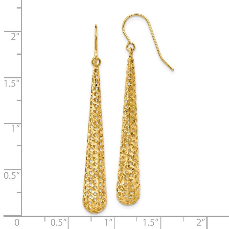 Leslie's Leslie's 14K Hollow Dangle Earrings