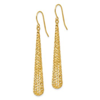 Leslie's 14K Hollow Dangle Earrings
