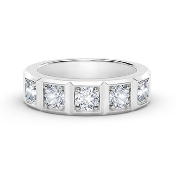 The Forevermark Tribute™ Collection Stackable Wedding Band