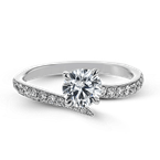 Simon G NR539 WEDDING SET